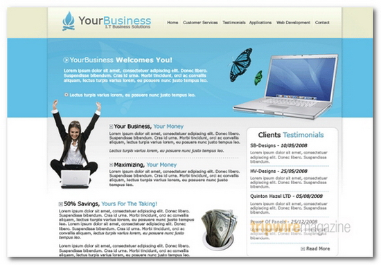 business layout 3 Graphic design – part 3