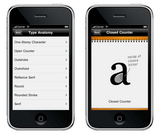 iphone app typography Graphic design – part 3