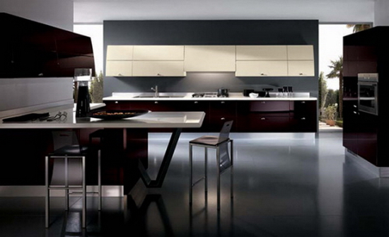 Flux Kitchens Scavolini Kitchen Color Trends Abound in Flux by Scavolini