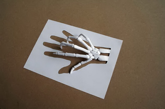 White Hand Simply Amazing A4 papercut   Peter Callesen