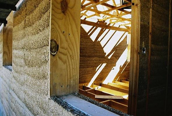 hemcretewallsection Carbon Negative Hemp Walls are 7x Stronger than Concrete