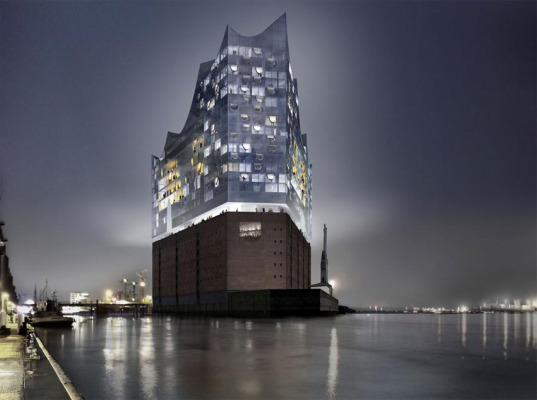 hamburg elbphilharmonie by herzog de mueron  Herzog + de Meuron's Hamburg Philharmonic Concert Hall Breaks Ground