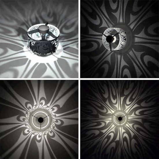 pattern casting shadow light Stunning Wall Shadows   Pattern Light Fixture Designs