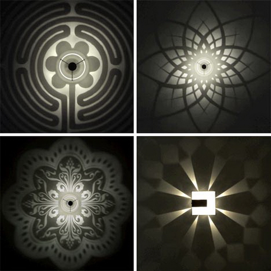 pattern light fixture design Stunning Wall Shadows   Pattern Light Fixture Designs