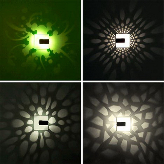 pattern wall lamp designs Stunning Wall Shadows   Pattern Light Fixture Designs