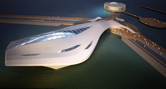 Amphibian Pavilion 1 Amphibious Pavilion For 2012 World Expo That Can Sail Away | Fluid