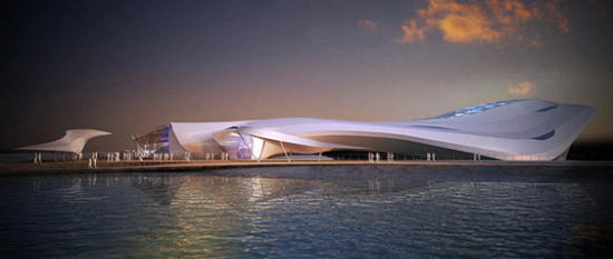 Amphibian Pavilion 3 Amphibious Pavilion For 2012 World Expo That Can Sail Away | Fluid