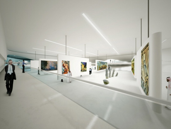 Art Displays and Ideas Futuristic Building Plans : Modern Art Museum in Dubai UAE