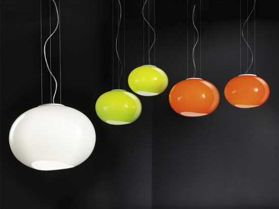 Awesome Colorful Glass Lamps Lucente - hanging lamps