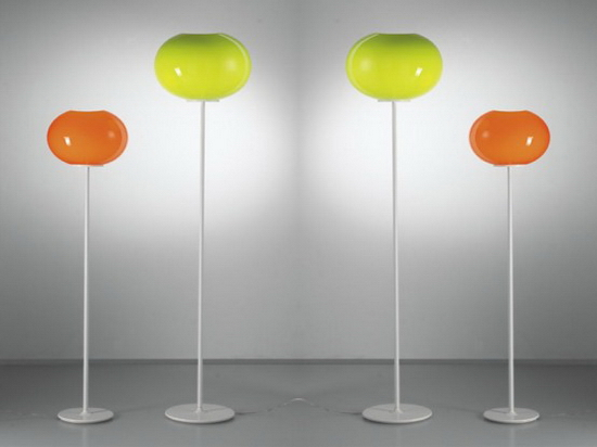 Awesome Colorful Glass Lamps Lucente - Floor lamps