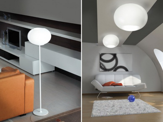 Awesome Colorful Glass Lamps Lucente - Floor and Ceiling Lamps