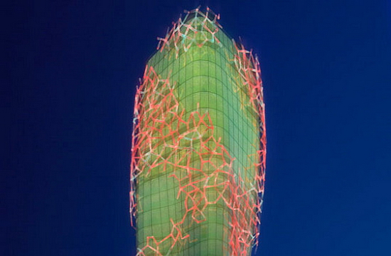 Biooctanic 2 Giant Cactus Shaped Biofuel Towers   Biooctanic