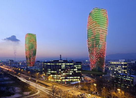 Biooctanic Giant Cactus Shaped Biofuel Towers   Biooctanic
