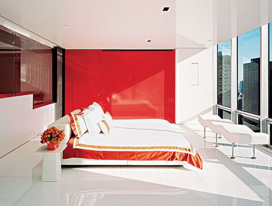Christopher Coleman - apartment design | red wall