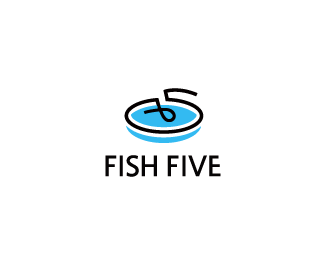 Fish Five 45+ Most Simple and Clear LOGOs
