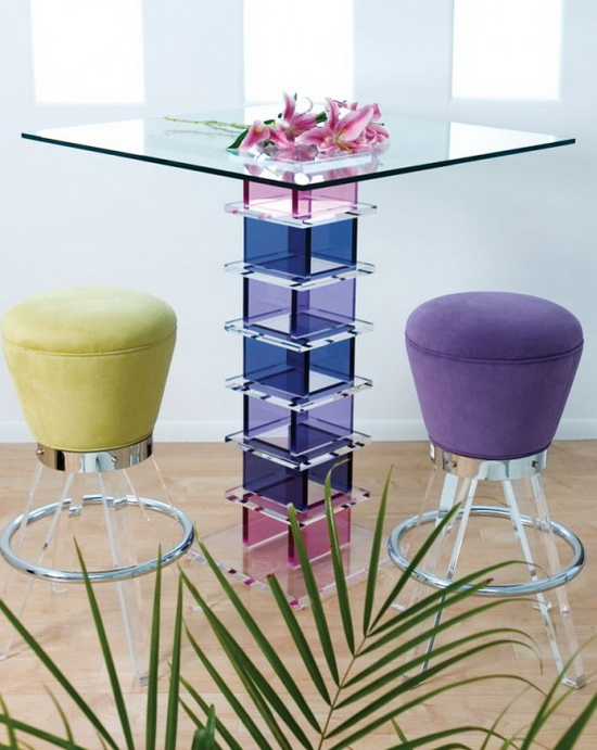 Glass Bar Table Squares