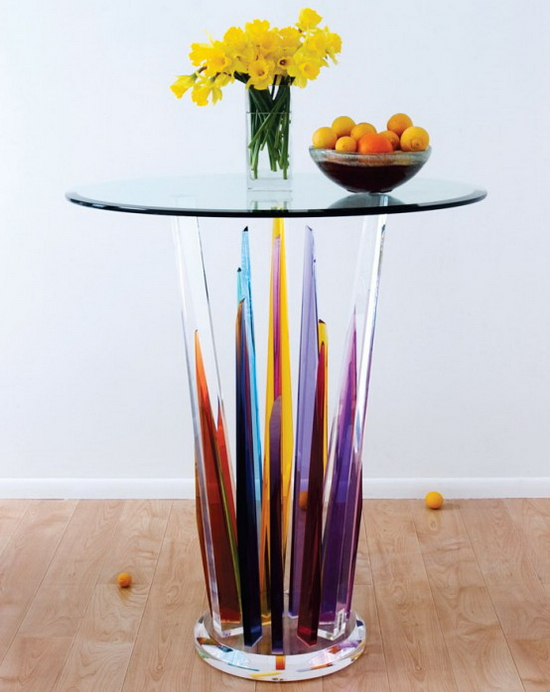 Glass Bar Tables Glass Bar Tables   Beautiful Design by H.studio