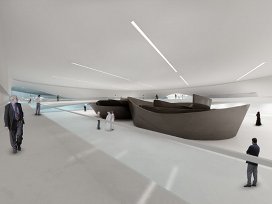 Reception Area Building Design Futuristic Building Plans : Modern Art Museum in Dubai UAE