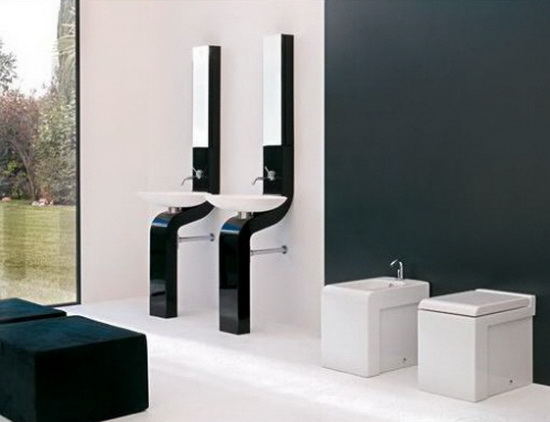 bathroom mirrors and sinks artceram Modern Sink Combos and Bathroom Mirror   by ArtCeram