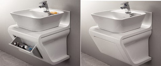 ceramic washbow2 Closet and Basin Unit | Integrated Storage Space