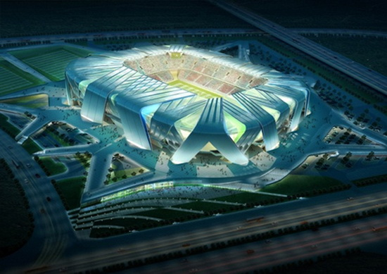 chinastadium01 Dalian Football Stadium by Ben van Berkel   wonder stadium