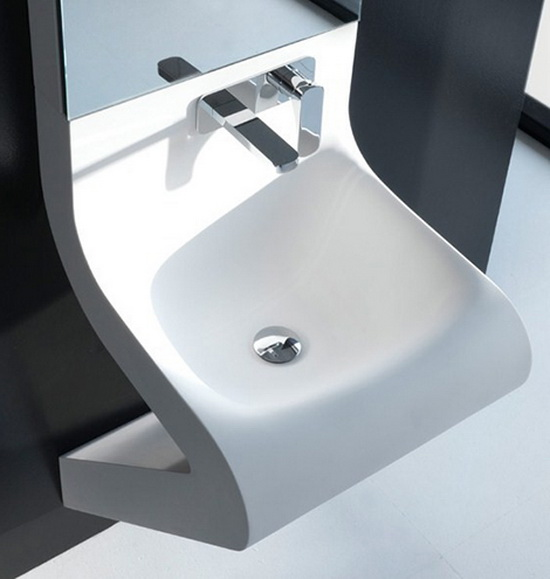 contemporary bathroom sinks artceram Modern Sink Combos and Bathroom Mirror   by ArtCeram