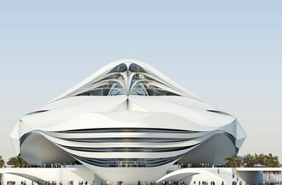 contemporary futuristic buildings Futuristic Building Plans : Modern Art Museum in Dubai UAE