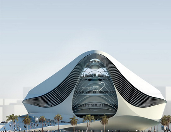 futuristic building plans Futuristic Building Plans : Modern Art Museum in Dubai UAE