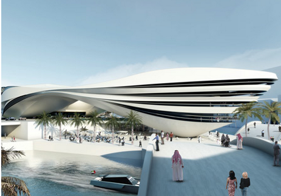 futuristic buildings and design Futuristic Building Plans : Modern Art Museum in Dubai UAE