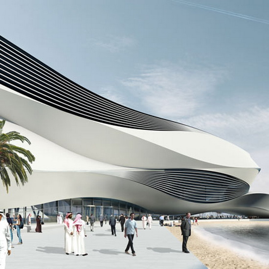 killer architecture Futuristic Building Plans : Modern Art Museum in Dubai UAE