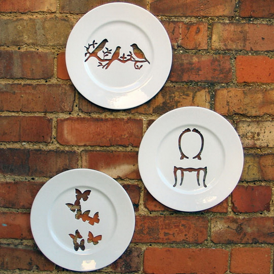 silhouette wall plates
