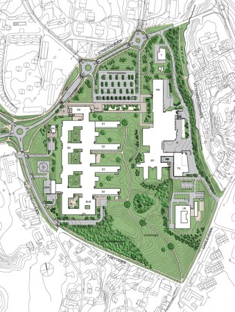 Akershus University Hosptial site plan