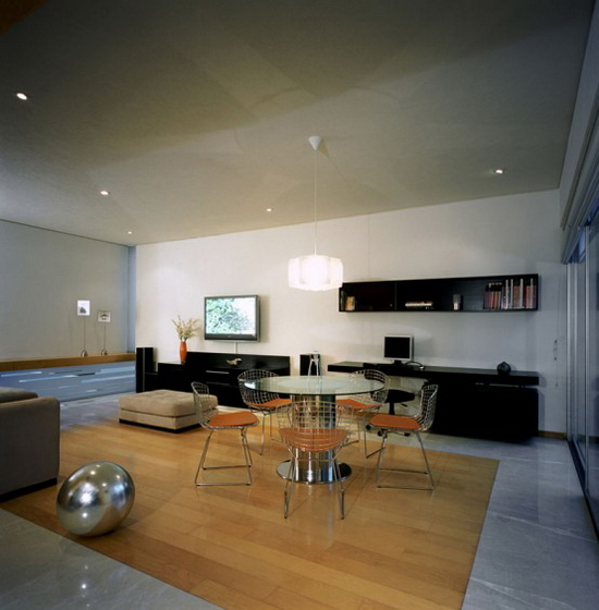 two courtyards house and modern interior 3