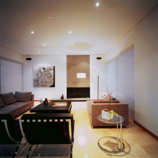 two courtyards house and modern interior 7