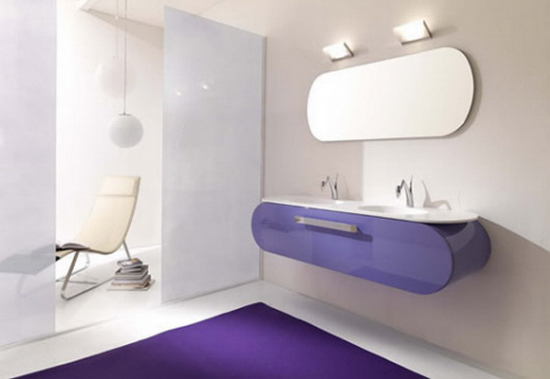 modern bathrooms Bathroom Furnishings with Flair | Lasa Idea