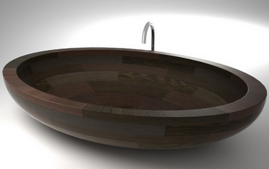 wood bath tubs uwd Best Wood Bath Tubs, Wash Basins, and Showers by UWD