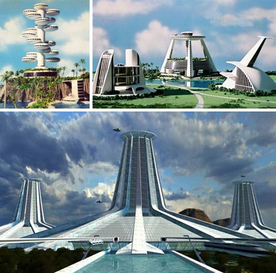 utopian prefab architecture 1 Utopian Sea Cities of The Future | Assembled by Robots?