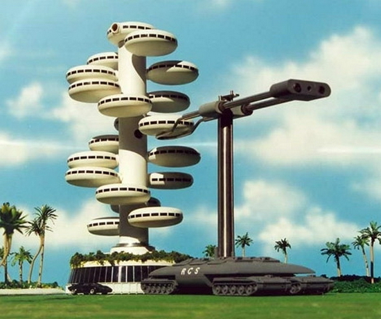 utopian prefab architecture Utopian Sea Cities of The Future | Assembled by Robots?