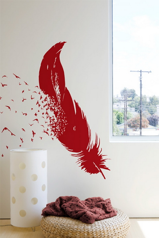 Birds of a feather 25 Creative Wall Coverings