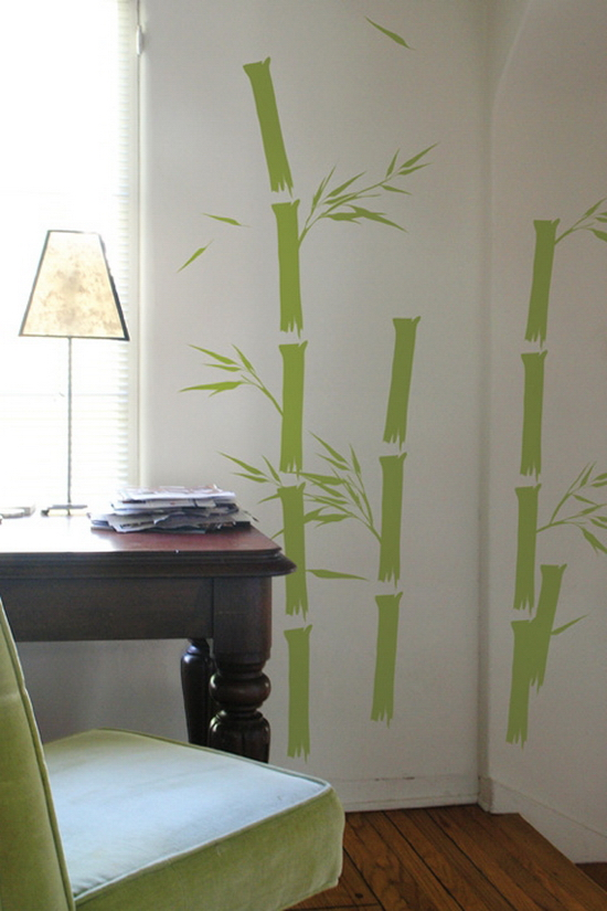 bamboo print 25 Creative Wall Coverings