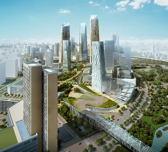 beijing district 2 Green Geothermal District Project in Beijing Revealed by SOM