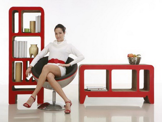 card board furniture2 Do you Eco? Cardboard Furniture Can Look Nice