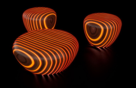 woodbb 3 Modern Illuminated Wood Furniture and Chairs