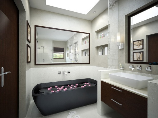 BathroomBlackBath Top 2010 Bathroom Design Ideas