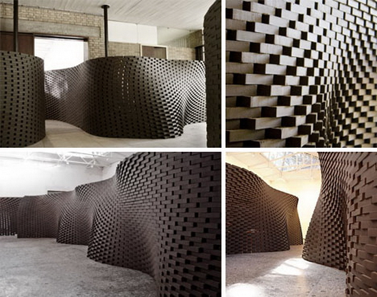 Curved Brick Wall Design